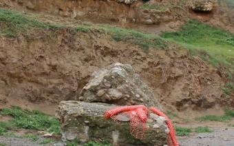 Restos de la excavación y de la muralla en la actualidad (MR)