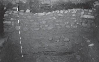 Detalle muro y hogar ibérico (AB)