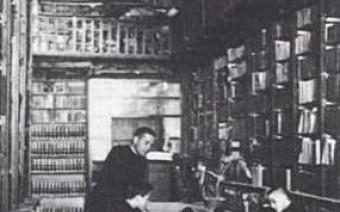 Foto antigua de la biblioteca
