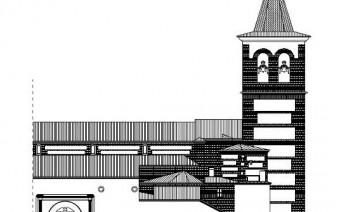 Alzado de la fachada meridional (PE)