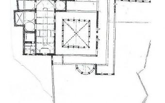 Esquema de la planta de la iglesia y convento (PE)