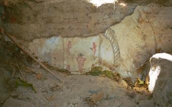 Restos de pinturas en los muros