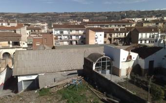 Talleres mecánicos en la parte trasera y huertas del convento (EG)