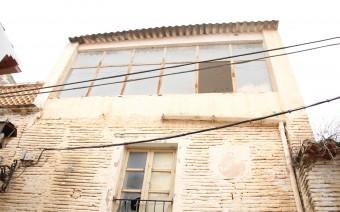 Detalle del aparejo y recrecido de la terraza (IS)