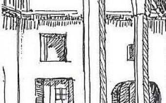 Patio interior con zapatas (PE)