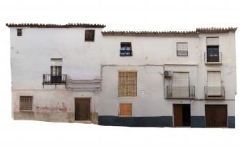 Fotogrametría de la fachada principal en la calle Mendoza
