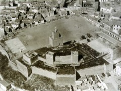 Alcazaba en los años 60 con el seminario a la derecha