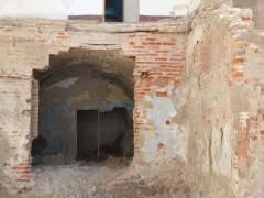 Detalle de uno de los sótanos afectados por el derribo (MR)