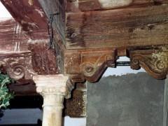 Detalle de las columnas y zapatas del patio (PE)