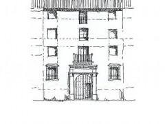 Alzado de la fachada del palacio de los Mendoza (PE)