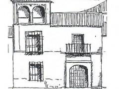 Alzado de la fachada calle Concepción 11 (PA)