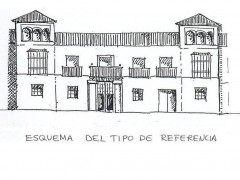 Alzado de la fachada antes de las modificaciones recientes (PE)